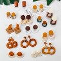 Женские Висячие серьги Lifefontier, корейские геометрические серьги в богемном стиле, минималистичные ювелирные изделия, 21 стиль