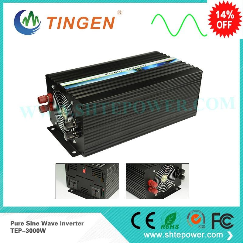 цена на 230v 50Hz invertor 3000w pure sine wave converter DC input 12v 24v 48v AC 100v 110v 120v 220v 230v 240v 3kw