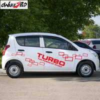 Car Whole Body Sticker For Suzuki Alto Works RS Turbo The Power Of Sport Vinyl Decal Auto Door Side Sticker Exterior Accessories