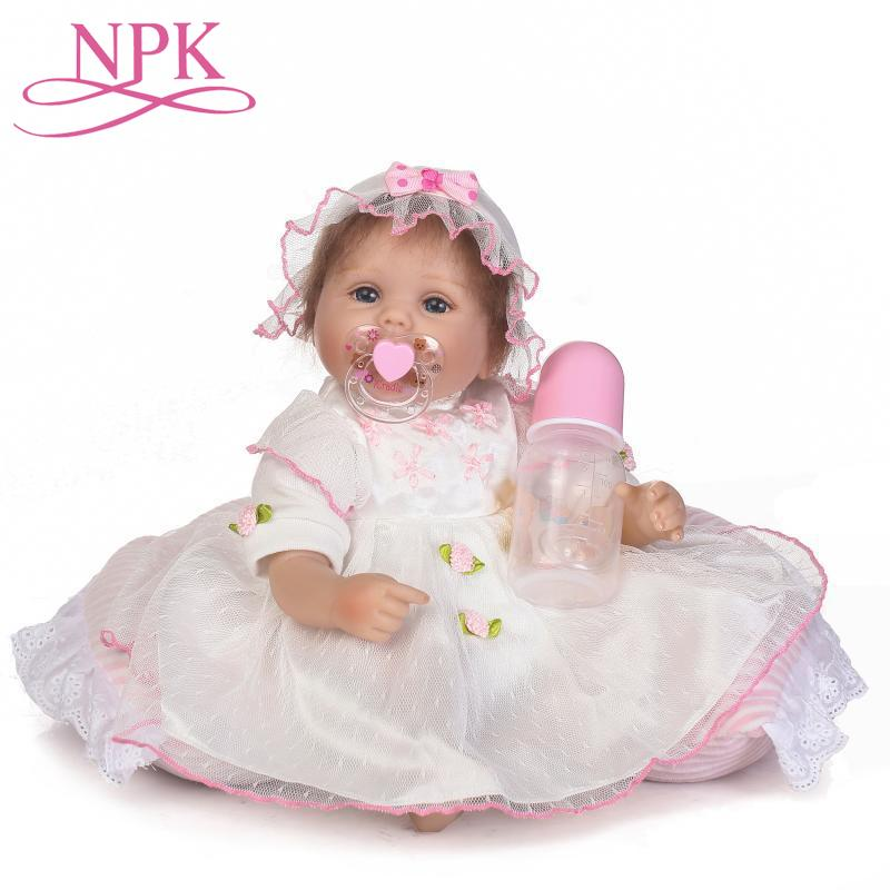 NPK 40cm Soft Silicone Reborn Dolls  Reborn-baby Collectible Dolls Sleeping Infant Toddler Kids Real Touch Bebe Xmas Gift ToysNPK 40cm Soft Silicone Reborn Dolls  Reborn-baby Collectible Dolls Sleeping Infant Toddler Kids Real Touch Bebe Xmas Gift Toys