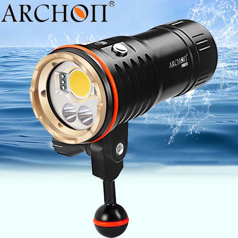 Underwater Flashlight ARCHON DM20 WM26 Led CREE L2 U2 Torche UV Video Light Diving lanterna lampe 32650 Battery d32vr underwater scuba diving video flashlight 2 cree leds blue light 2xcree xml u2 led white light 32650 battery charger