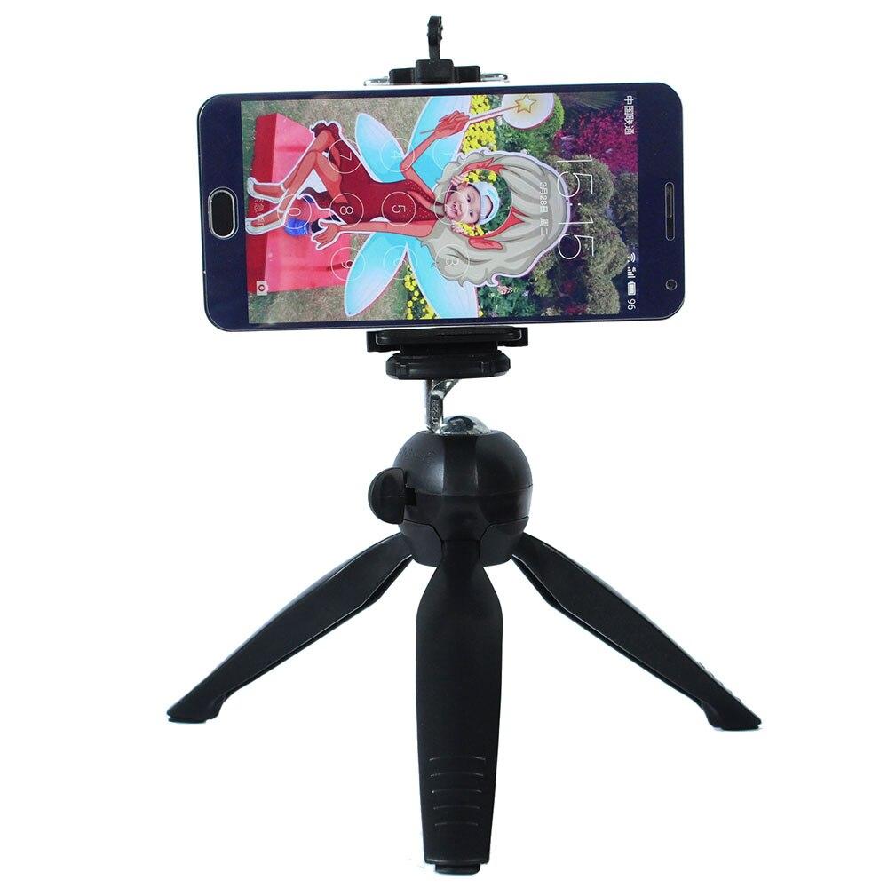 YT288 мини-штатив с держатель/селфи Портативный DSLR Камера Настольный Штатив для iPhone 7 Plus Sony Samsung Mobile телефон