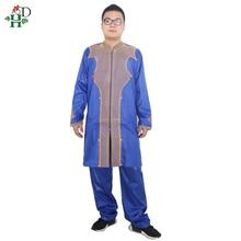 Africa fashion Material de riche africano hombres camisa con pantalones bordado camiseta