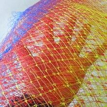 1PCS Collapsible Fishing Tools Nylon Fishing Net Rhombus Mesh Hole Depth Folding Nylon Landing Dip Net