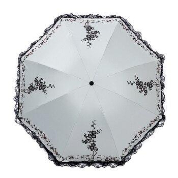 3 складной зонт моды кружевной зонтик летом Анти-УФ-зонтик дамы детей вручную Paraguas дождь Шестерни Портативный путешествия