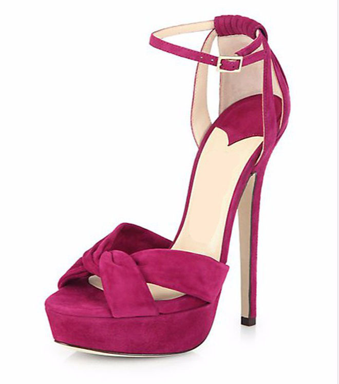 ФОТО 2016 New Fashion women's shoes thin high heel platform sandals Double Ankle strap Solid stilettos for party wedding big size5-15