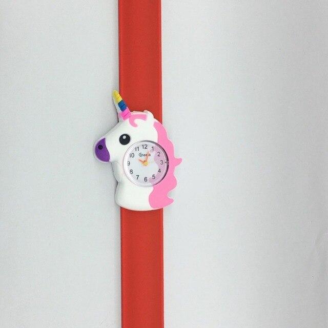 Di natale Per Bambini Orologio Per Il Ragazzo Del Fumetto Rinoceronte Gli Studenti Da Tavolo Braccialetto di Sport Del Bambino Del Nastro Del Silicone Accarezzò Orologi Dell'orologio Degli Uomini