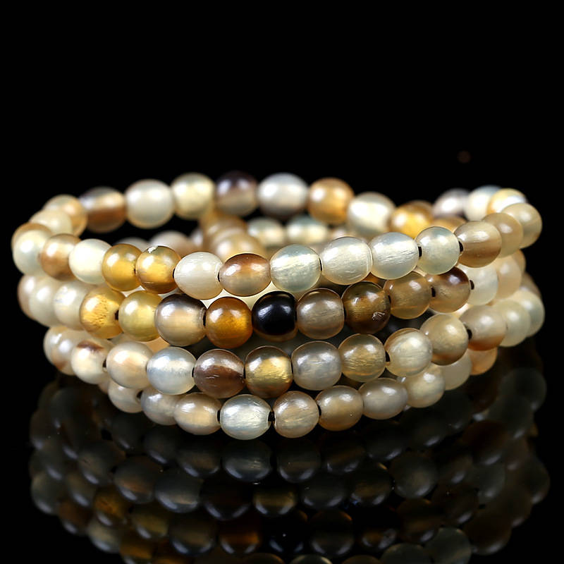 Beaded-Bracelets Meditation-Beads Natural-Horn 10mm 108 Tibet BRO833 6mm 8mm Good-Qulity