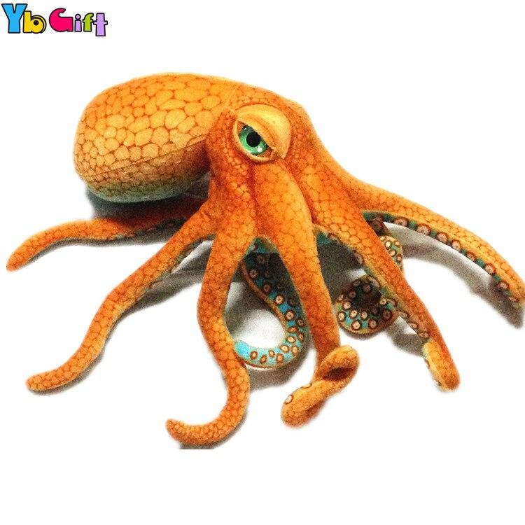 Yb cadeau simulation vraie vie animaux en peluche peluche douce pieuvre Orange gros 31 pouces jouets pour bébé cadeau présent