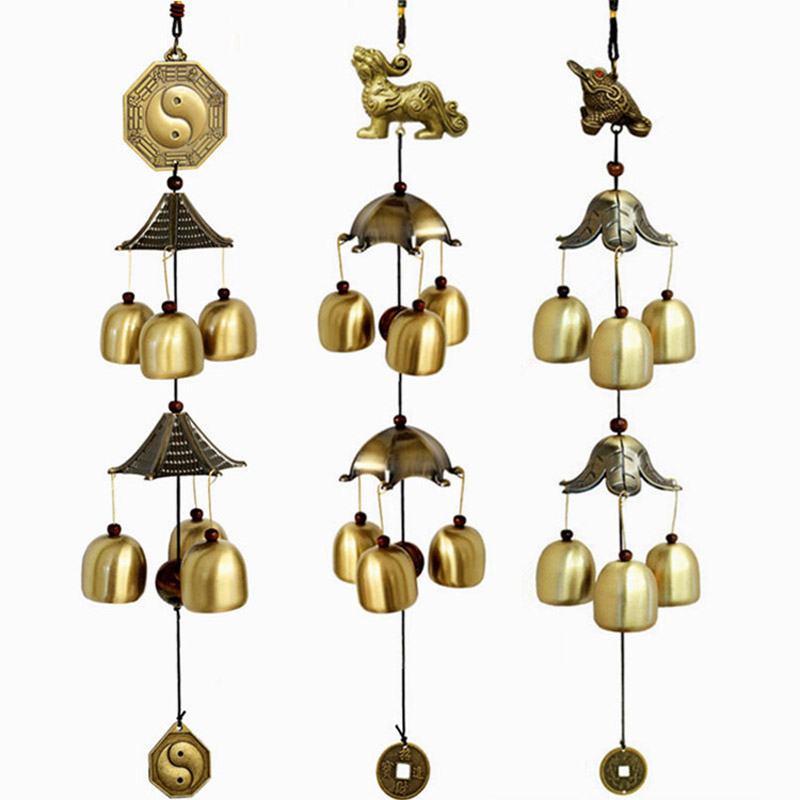 Feng Shui Windchimes Home Decoration 6 Bells Outdoor Wind Chimes  Traditional Chinese Folk Hanging Door Chimes In Wind Chimes U0026 Hanging  Decorations From Home ...