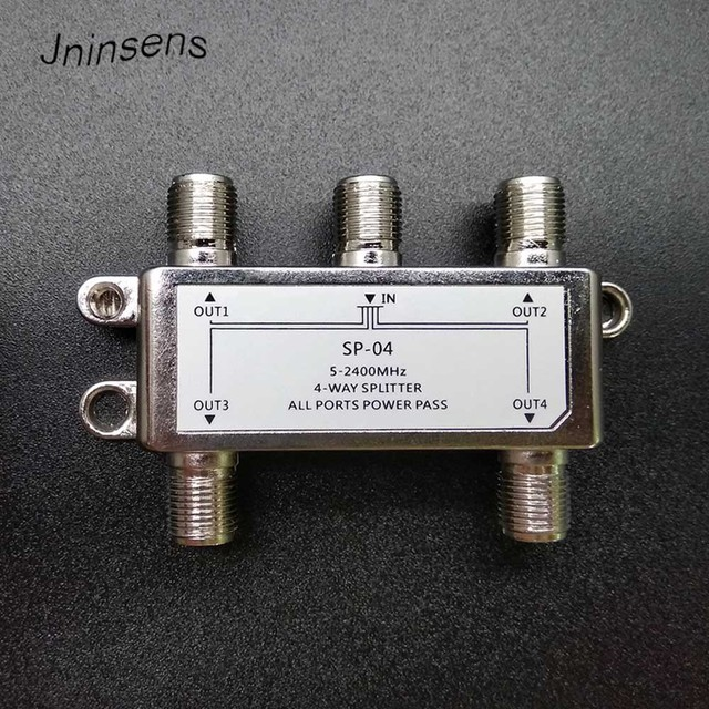 5-2400MHz 4-way splitter / 4-channel satellite signal power splitters Satellite TV Receiver For SATV / CATV design