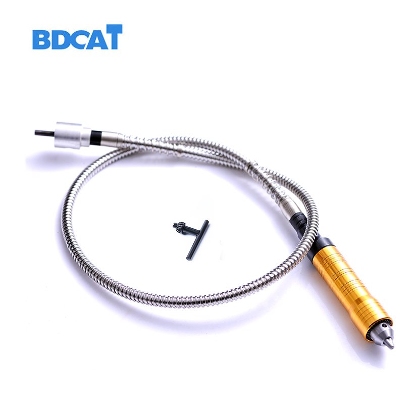 6mm Rotary Amoladoras angulares herramienta eje flexible adapta + 0-6.5mm pieza de mano estilo dremel eje flexible Taladros eléctricos herramienta rotatoria