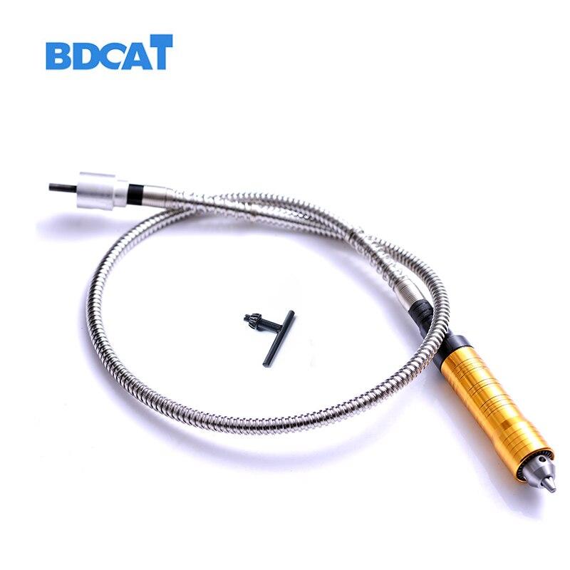 6mm Rotary Angle Grinder Outil Flexible Arbre Adapte + 0-6.5mm Pièce À Main Pour Dremel Style Flex Arbre Perceuse électrique Outil Rotatif