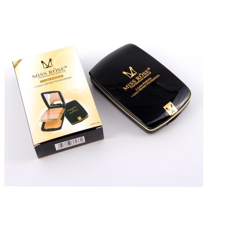 Miss Rose 2 Colors Highlighter Powder Palette Face Shading Trimming Makeup Face Contour Grooming Concealer Pressed Powders 36pcs