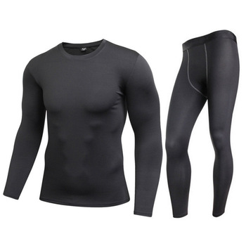 Motorcycle Men Women Thermal Underwear Suits Set Skiing Winter Warm Base Layers Tight Long Tops & Pants S-XXL