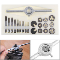 30Pcs Mini HSS Tap and Die Micro Wire Tapping Wrench Tool Set Thread Plugs M1 to M2.5 Screw