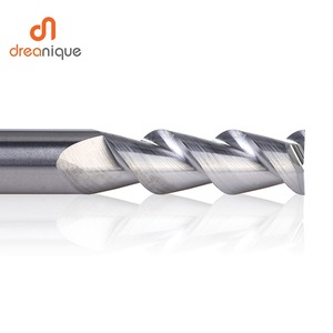 Image 2 - 1pc flattened end mill 2 flutes end milling cutters d1 d12 cnc end mills face and slot milling tools for aluminum machining