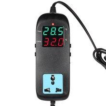 Thermomètre aquarium thermostat électronique régulateur thermique pour incubateur régulateur de température Thermocouple + prise AC90V ~ 250V