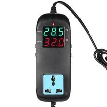 Thermometer Aquarium Thermostaat Elektronische Thermische Regulator Voor Incubator Temperatuur Regulator Thermokoppel + Socket AC90V ~ 250V