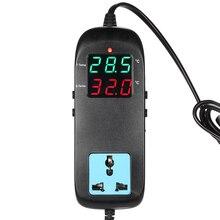 thermometer aquarium thermostat Electronic thermal regulator for incubator Temperature regulator Thermocouple +Socket AC90V~250V