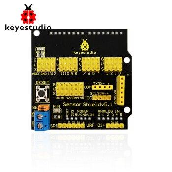 Free shipping ! Keyestudio Sensor Shield/Expansion Board V5 for Arduino