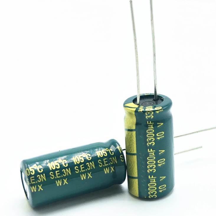 10v 3300UF 10*20 High Frequency Low Impedance Aluminum Electrolytic Capacitor 3300uf 10v