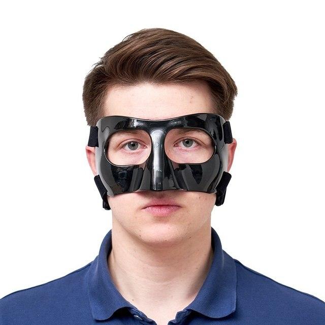 100% Fibra De Carbono Máscara Nariz Olhos Proteção para o Rosto do Capacete  de Futebol afe47ea565