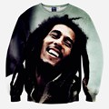 Fashion music style Men's 3d sweatshirts tops print Musician Bob Marley slim casual hip hop hoodies pullovers