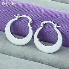 Sales Promotion 925 Sterling Silver Earrings Women Fashion Jewelry Wholesale Hoop Exquisite Female