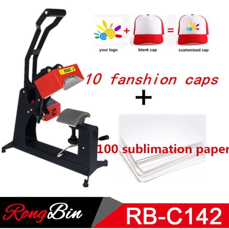Double Display Sublimation Cap Heat Press Machine Cap Hat Heat Transfer DIY Personalised Baseball Snapback Sublimation