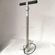מתקפל סגנון שור pcp יד משאבת לחץ גבוהה 3 שלב 300 בר 30 mpa 4500psi עם אוויר fitler