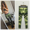 Army Green GYMHERO Printed Comfortable Leggings Fitness Fashion Women SportsStretchy Pencil Pants Trousers Plus Size