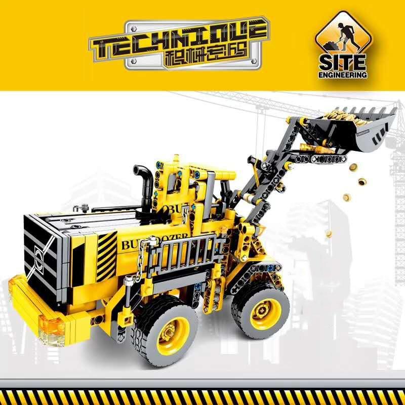 688pcs-Technic-Series-Bulldozer-Truck-Building-Blocks-City-Construction-Engineering-Figures-Enlighten-Bricks-Kids-Birthday-Toys (3)