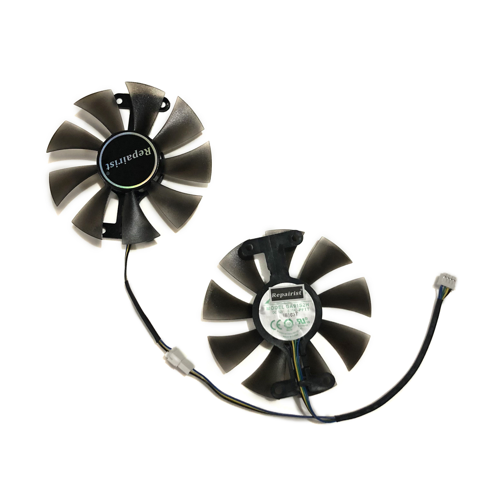 <font><b>GeForce</b></font> <font><b>GTX</b></font> 1050 1060 <font><b>950</b></font> 960 GPU Cooler Cooling Fan GA91S2H For ZOTAC GTX1050Ti X-Gaming GTX760 <font><b>2GD5</b></font> HB Cards As Replacement image