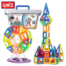 QWZ 72pcs Mini Magnetic Designer Construction Toys Set Early Educational Toys For Children 3D Magnetic Building Blocks Kids Gift(China)