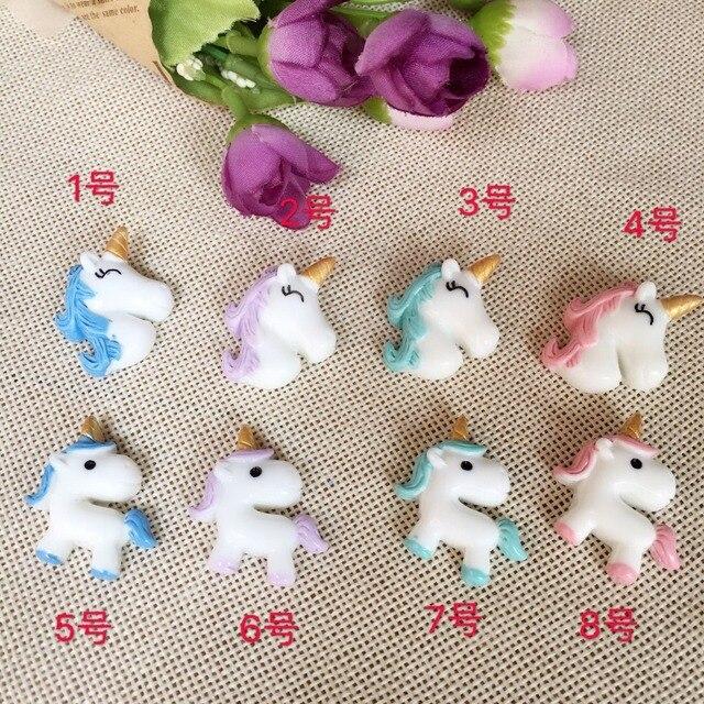 10pcs Lot Resin New Adorable Unicorn Horse Hot Selling Unicorn Horn