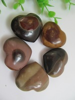 High Quality Natural Ocean Jasper Quartz Crystal Heart Carved Polished Reiki Healing Natural Stones And Minerals
