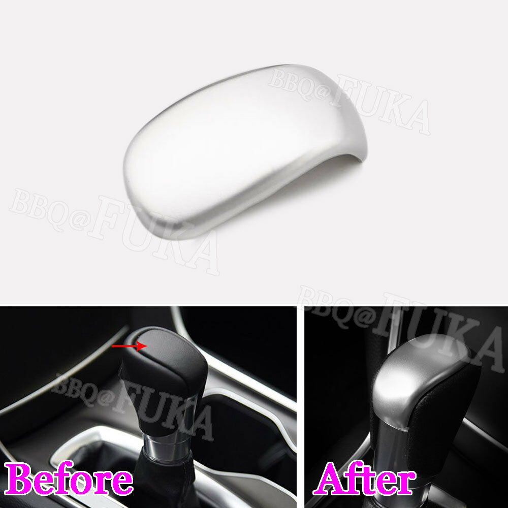 BBQ@FUKA Car Gear Shift Lever Handle Knob Cover Trim ABS Chrome car styling For <font><b>Honda</b></font> 10th <font><b>Accord</b></font> <font><b>2018</b></font> automobiles <font><b>accessory</b></font> image