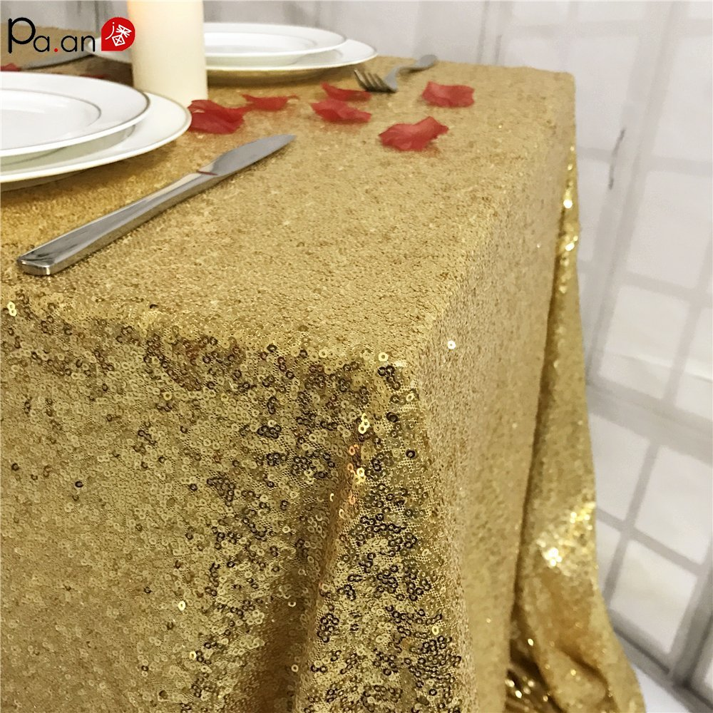 Sequin Table Cloth Glitter Table Overlays Wedding Tablecloth Shining Table Cover Sequins Party Meeting Check-in Desk Cover