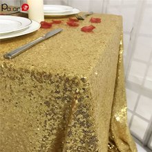 Sequin Table Cloth Glitter Overlays Wedding Tablecloth Shining Cover Sequins Party Meeting Check-in Desk