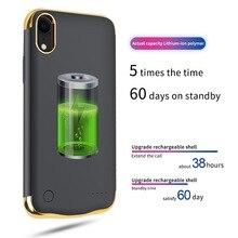 6000mah のバッテリー充電器ケース充電式電源銀行充電カバースリムメッキ耐衝撃 XS Max