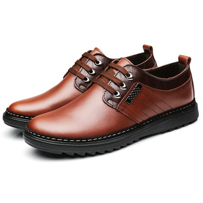 new genuine leather oxfords shoes breathable business