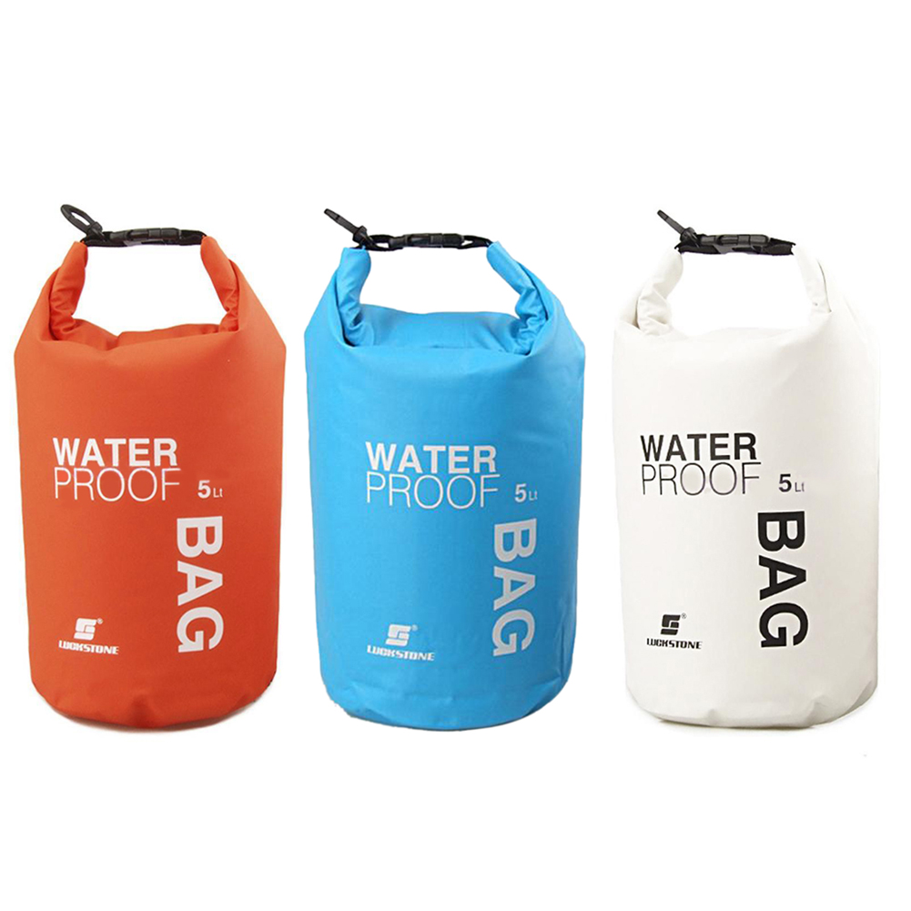 цена на Waterproof Dry Bag Outdoor PVC Sack Pouch Boating Storage Rafting Sports Kayaking Canoeing Swimming Bag Travel Kits 5L/10L/20L