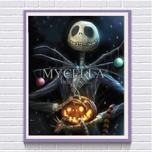 5D Kit Pintura Diamante Jack Skellington Halloween Antes Do Natal Diamante Bordado Ponto Cruz Strass DIY Decoração Em Mosaico(China)