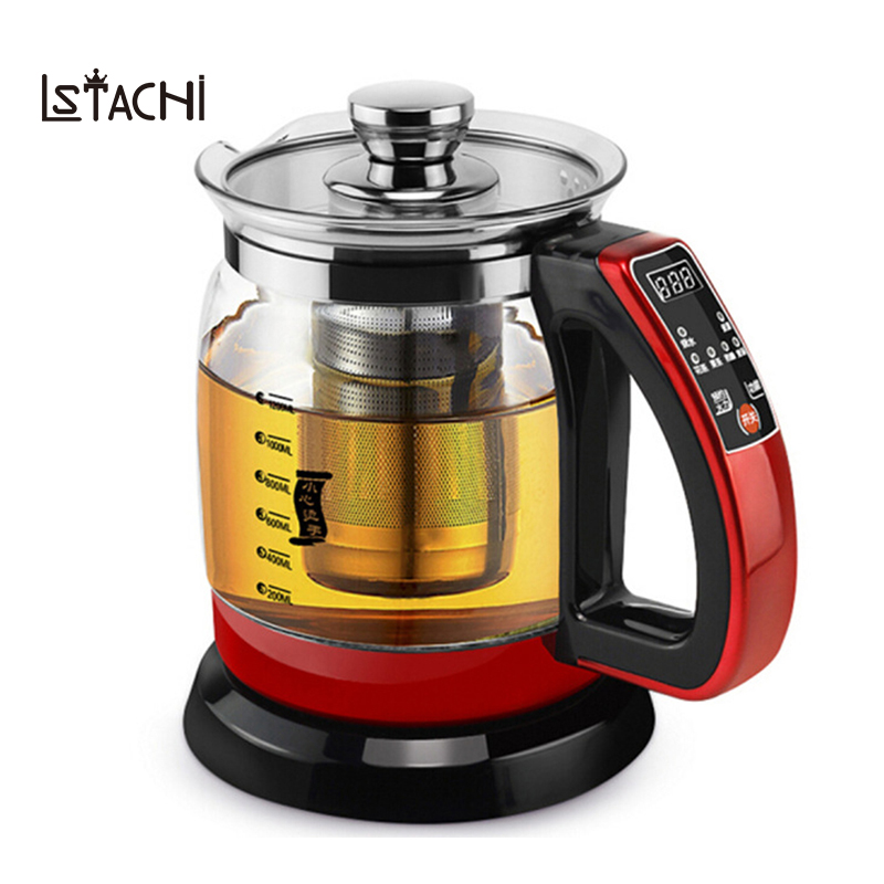 LSTACHi Electric kettle Health preserving pot 1.2L 700W Multifunctional tea pot boiled split glass health pot water bottle