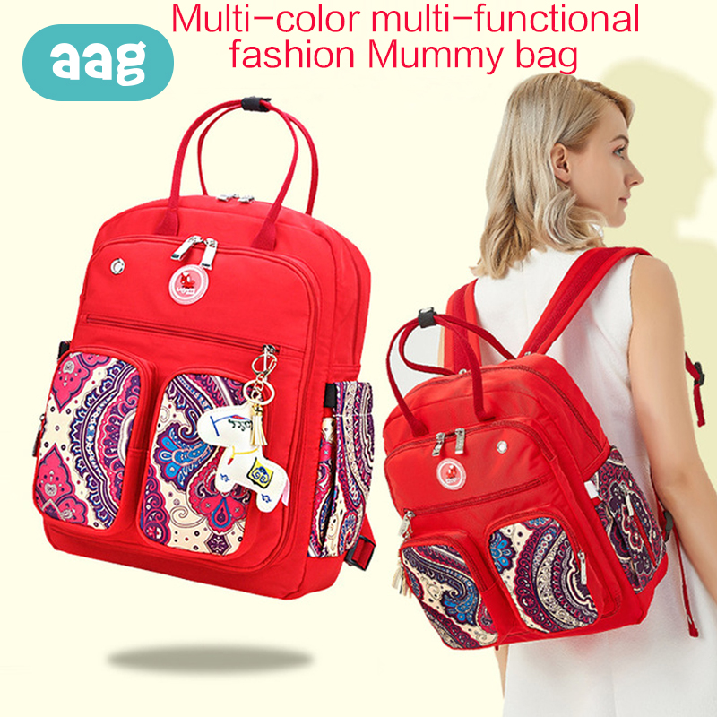 AAG Waterproof Mummy Bag Multifunction Large Capacity Maternity Nappy Daiper Travel Backpack Portable Wash Cosmetic Bag 30AAG Waterproof Mummy Bag Multifunction Large Capacity Maternity Nappy Daiper Travel Backpack Portable Wash Cosmetic Bag 30