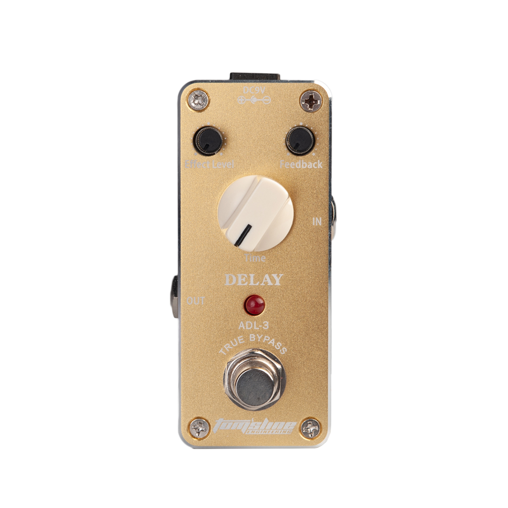 Aroma ADL 3 Delay Guitar Pedal Electric Guitar Effect Pedal With Fastener Tape Aluminum Alloy Housing