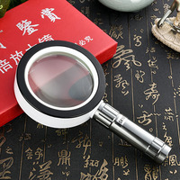 10x Handheld Illuminated Magnifier Loupe Reading Jewelry Magnifying Glass Loupe with 12PCS LED Light Free Shipping