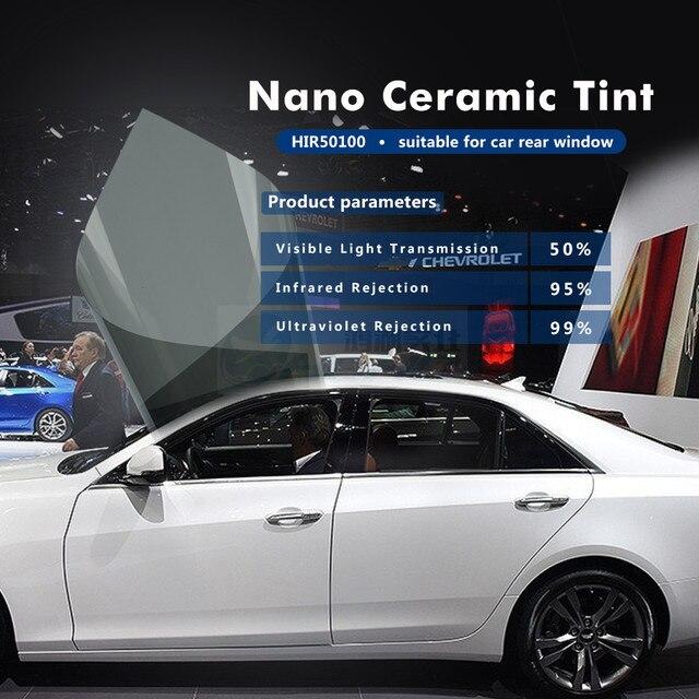 1.52X20M Top Quality Middle Grey Nano Ceramic Window Film Sun Control Window Protection Film HIR50100