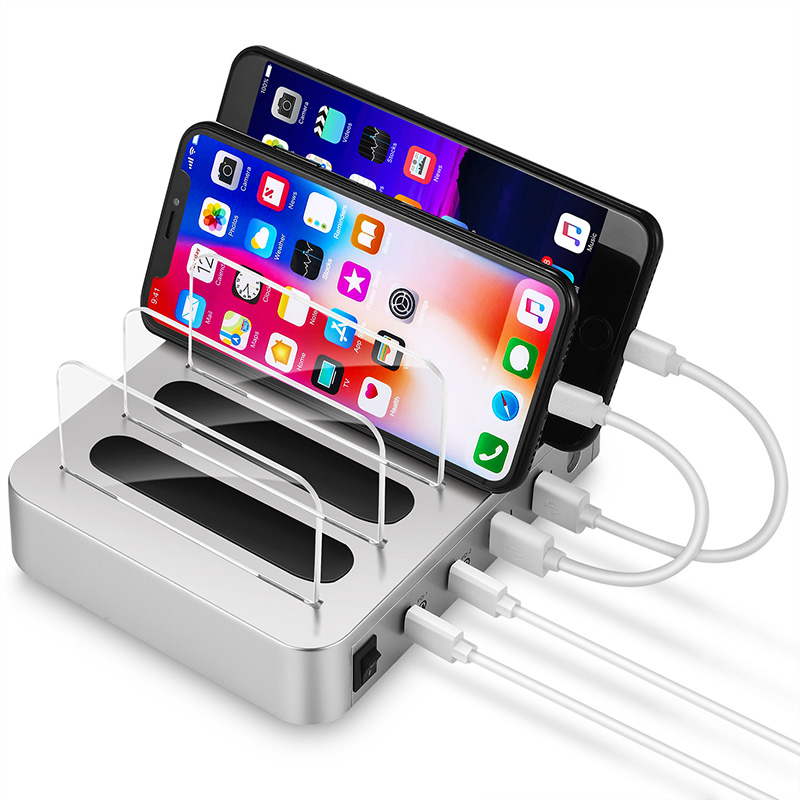 Station de charge USB double PD + QC3.0 support de support détachable universel chargeur 4 ports bureau chargeur usb station de charge
